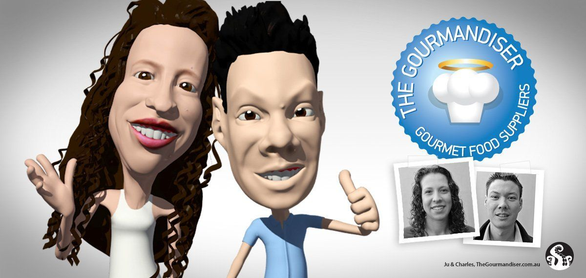 3D Caricature of Ju and Charles